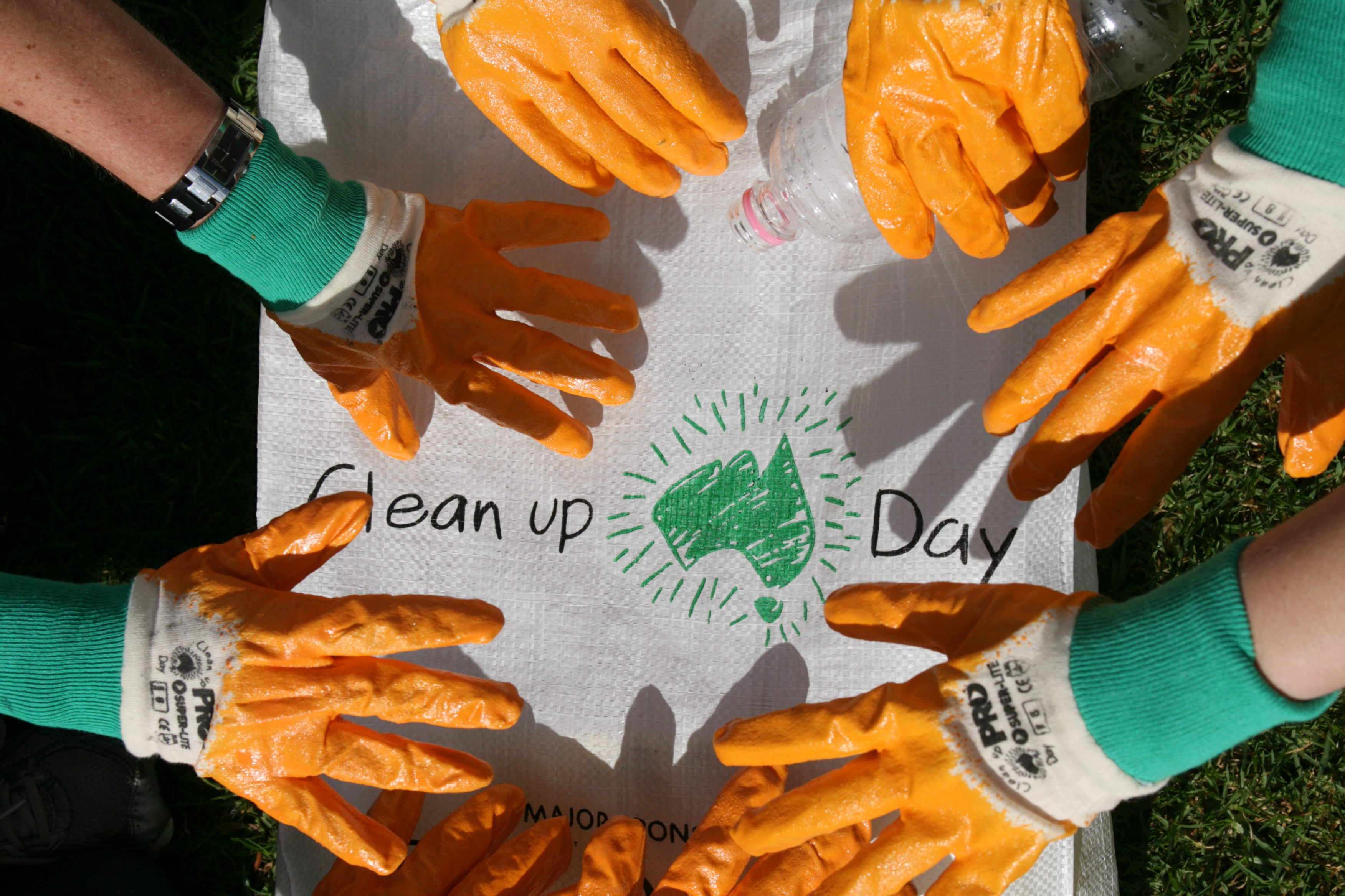 Lend a hand to clean up.