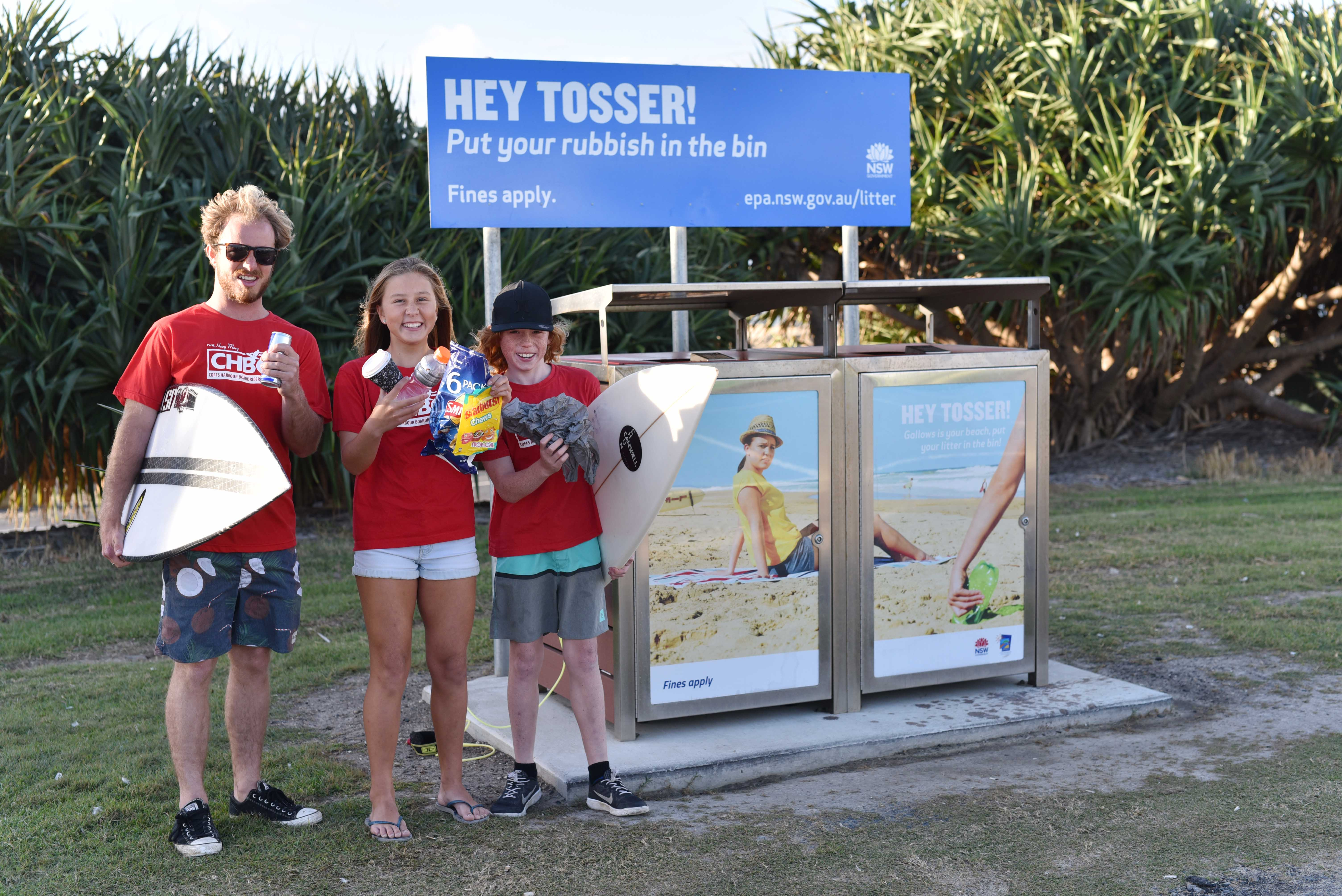 Litter is the loser at Gallows Beach thanks to a partnership between  Council and Coffs Harbour Boardriders Club to help reduce rubbish dumping. ffe0547ed64