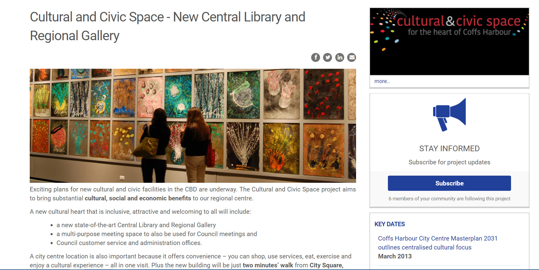 library-gallery project page screenshot