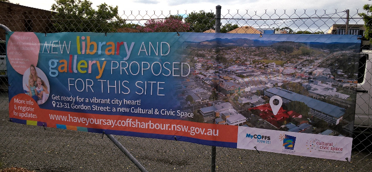 Have Your Say Banner on site perimeter