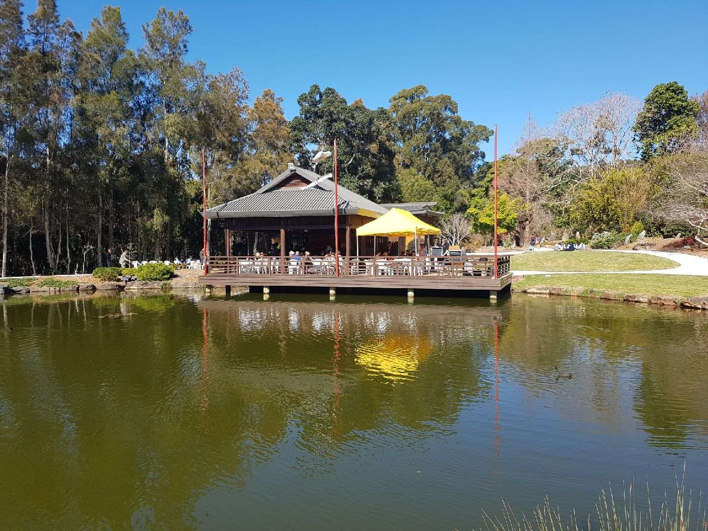 Traditional Japanese Tea House in the Botanic Garden.