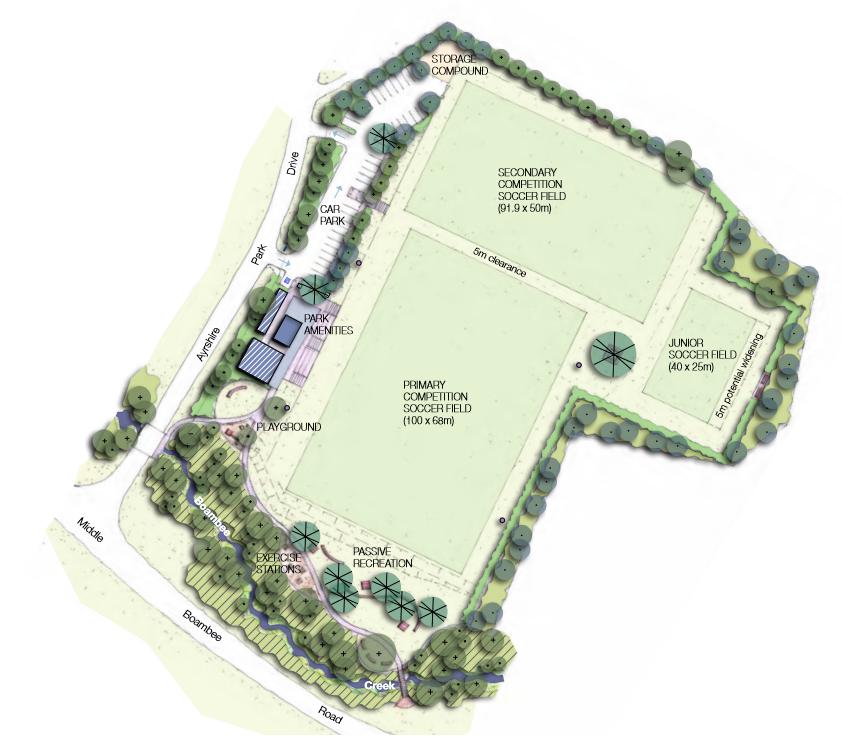 Draft Ayrshire Park Boambee masterplan image