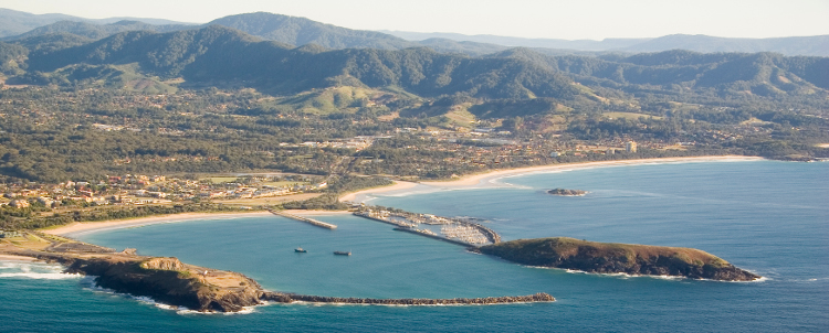 Coffs Harbour Aerial Shot