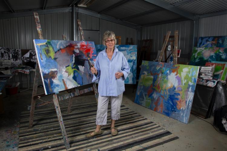 Terri Butterworth in her studio