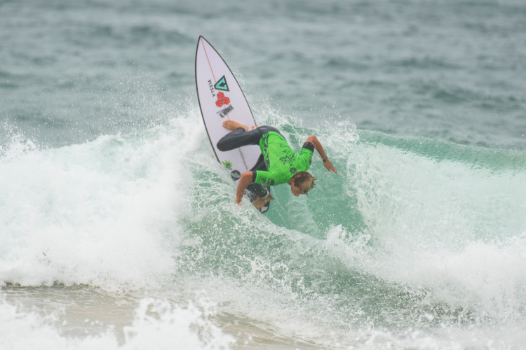 Jordy Lawler was eliminated in Heat 12 of Round 1 in the Vissla Sydney Surf Pro.