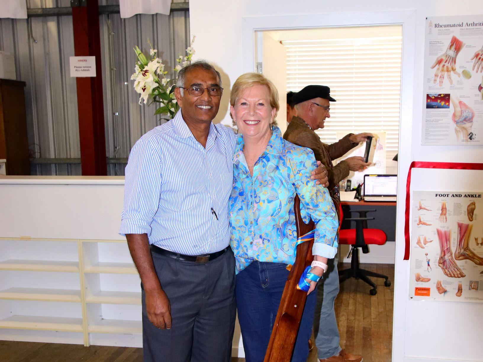 Ulong Health Hub opening - Dr Ruthnam and Mayor
